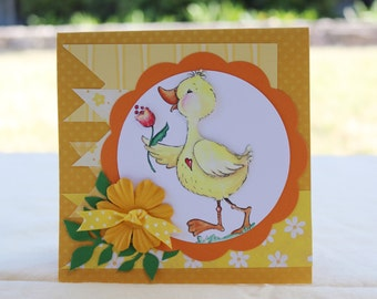 Sweet Duck 3-D Greeting  Card