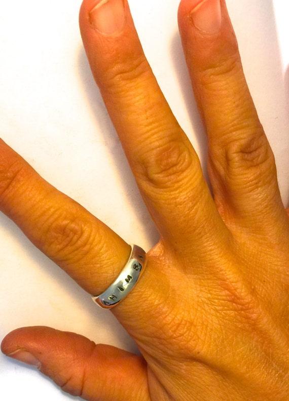 Ahimsa Ring-Band Ring-Yoga Ring-Vegan Ring-Eco Friendly-Gift-Birthday-Anniversary-Wedding-Ethical Jewelry-Personalize-Unisex