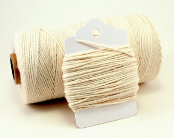 Ivory String - Cream Baker's Twine - Off White String - Natural Twine - Rustic Gift Wrap String - Natural Divine Twine - Cream Color Twine