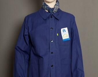French Blue Work Jacket Le Cèdre 70's (L)