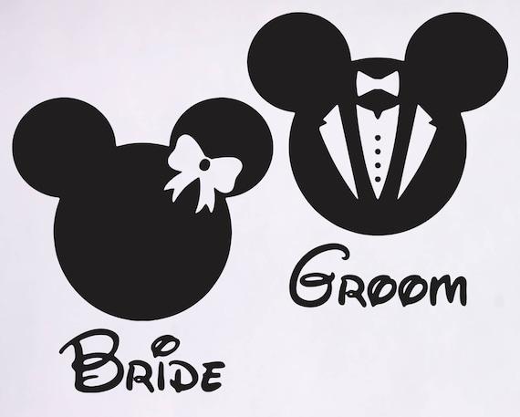 Mickey Mouse Svg, Bride Clipart, Mickey Minnie Wedding