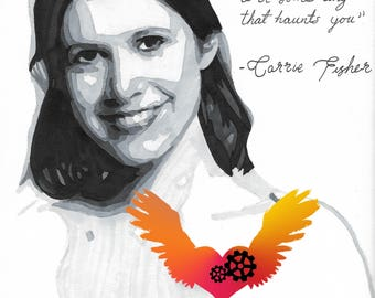 Carrie Fisher - Drawing