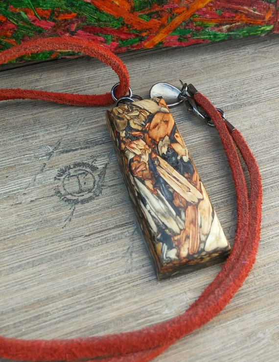 Soft Leather Tumbleweed Necklace