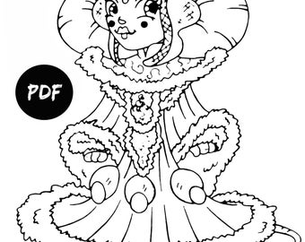 Queen Amidala coloring pages kids Digital coloring pages Printable coloring pages Coloring book pages Padme Amidala Star Wars coloring pages