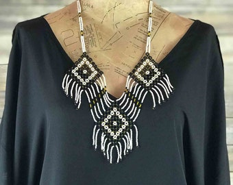 Elaborate Beaded Statement Necklace