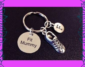 Mother's day gift, fitness gifts for mums,  mom fitness keychain, 3D running shoe keyring, Fit Mummy PT UK