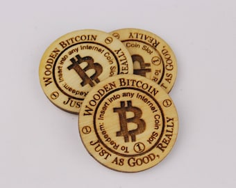 25 Wooden Bitcoin Just as Good, Really