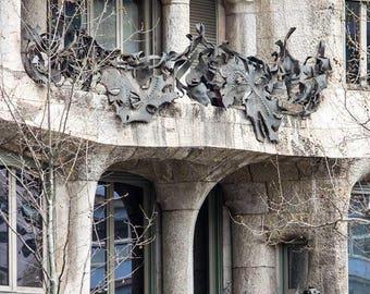 Barcelona print, La Pedrera, Gaudi, Architecture, architectural print,