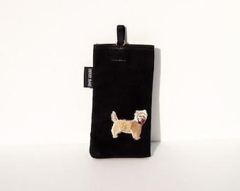 Cairn Terrier, Cream Cairn Terrier, Dog Eyeglass Case
