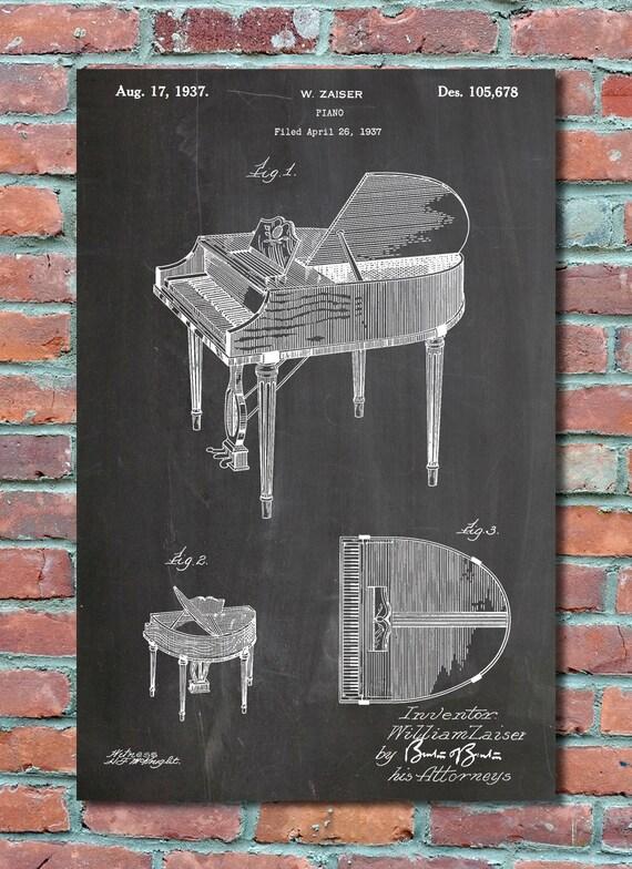 Piano patent wall art print piano patent art piano patent malvernweather Gallery