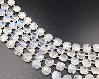 "Rainbow Moonstone Checker Beads 8-9 mm (ONE 8"" Strand)"