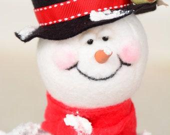 Whimsical Snowman, Whimsical Primitive Snowman, Anthropromorphic Snowman, OOAK Snowman