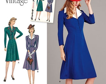 Vintage 1940's Dress Pattern, Agent Carter Cosplay Dress Pattern, Simplicity Sewing Pattern 8050