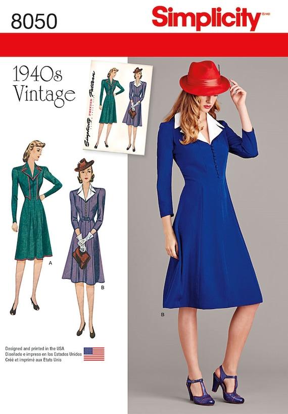 Vintage 1940\'s Dress Pattern Agent Carter Cosplay Dress