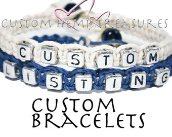 Design Your Own Couples Bracelets, Great Gift For Her, set of 2 Bracelets, Couples Gift, Personalized jewelry