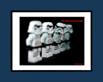 STAR WARS - Storm Trooper - The Force Is Strong With This One - Movie Poster