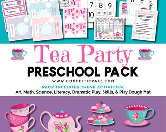 Tea Party Preschool Activities Printable educational printable homeschool preschool  - instant download