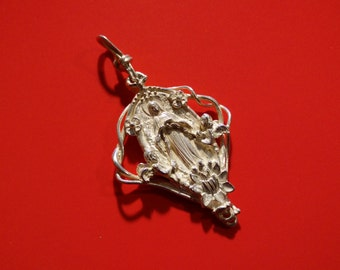 Christian Jewerly-Mary Untier of Knots Sterling Silver 925 pendant-religious pendant-holy mary-art-medalla medal-devotion FREE SHIPPING