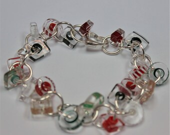 Artisan - Bracelet ~ Furnace Art Glass Beads and Sterling Silver