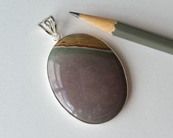 Sterling silver Succor Creek jasper pendant