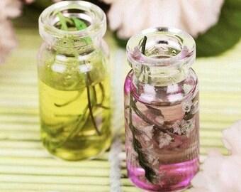 Fresh purple tea rose essential oil
