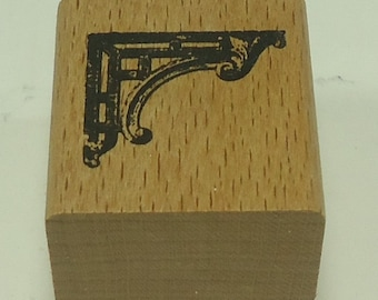 Architectural Corner Wood Mounted Rubber Stamp