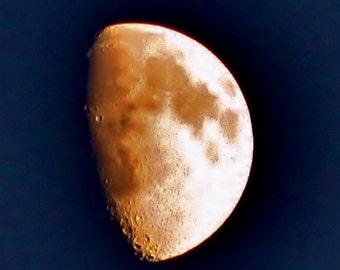 half moon at sundown