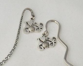 Golfer bookmark, golf lover gift for men or women, golf club and ball, golfer gift, retirement gift, hobby bookmark, sport gift
