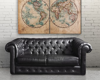 World map canvas etsy world map canvas print vintage world map add free quote historic map gumiabroncs Gallery
