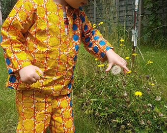 Kids African fabric or wax tunic or shirt