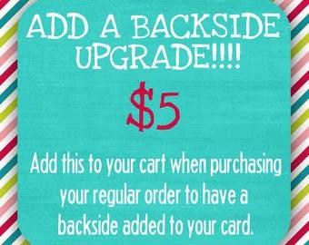 Add a Backside upgrade!