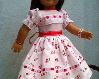 """Cherry Pie 1""""   Doll Dress 2013 Collection  - fits 18 inch American Girl Style Doll -"""