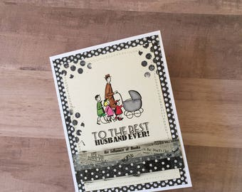 Retro Grungy Father's Day Card, Father's Day Card, Husband Father's Day Card, Card from Wife, Dad's Day, Card for Dad