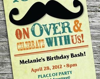 Mustache Party Invitation