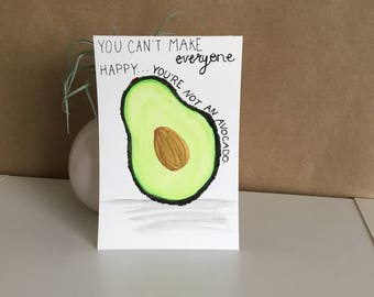 Handmade Watercolor Painting (Avocado), Art Print Gift