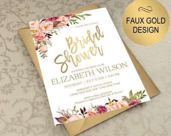 Bridal shower invite Etsy