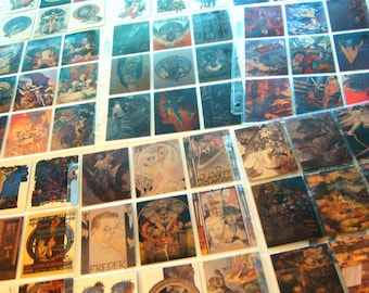 SALE: 90 Sci Fi Collector Cards, Michael Kaluta Set #1, in Archival Pocket Pages.