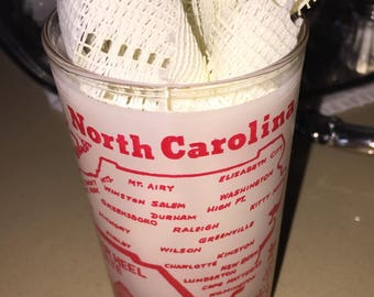 North Carolina Souvenir Drinking Glass