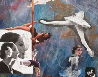 Dream Sequence Original Handmade Collage - Ballet Diptych Part II