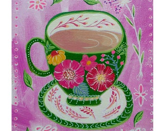 All you need is tea - illustration - painting