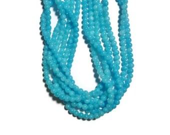Blue Jade - 6mm Round Bead - Sky Blue - 68 beads - Full Strand - aqua - ocean