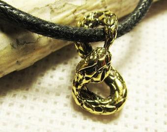 Ouroboros pendant - handcrafted pendant ouroboros - infinity- bronze pendant