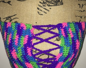Bando tie up crop top