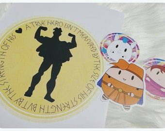 Hercules collection prints and stickers