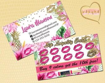 LipSense Loyality Cards,Business Cards,LipSense Digital Punch Cards,LipSense Punch Card,LipSense Business card