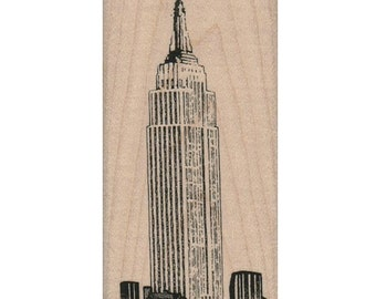 rubber stamps New York NYC  Empire State Building cling stamp, unmounted or wood mounted  11215