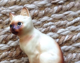 Vintage Siamese Cat Figurine- Cat Figurine