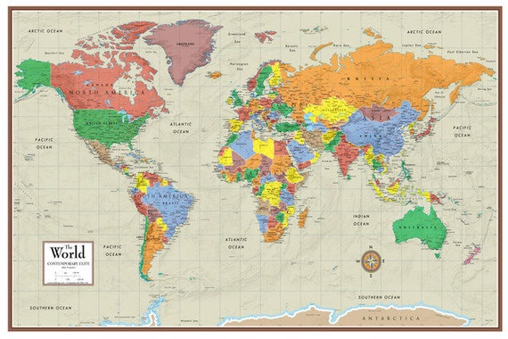 24x36 world contemporary elite wall map poster foam cork board gumiabroncs Image collections
