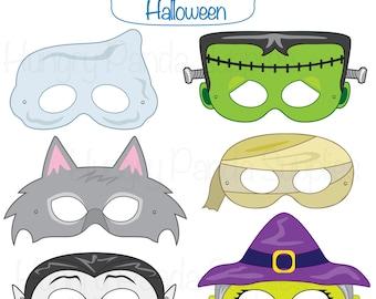 Monster printable masks halloween masks monsters monster halloween masks halloween costume halloween printable monster masks witch mask ghost mask werewolf vampire mummy frankenstein mask maxwellsz