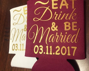 Wedding Can Cooler - Party Favor Custom